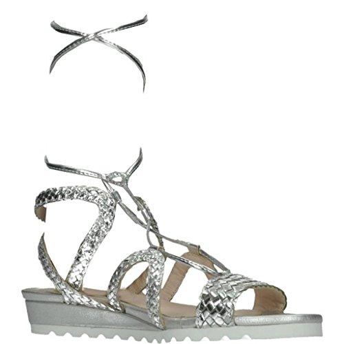 Sandali e infradito per le donne, colore Argento , marca KESS, modello Sandali E Infradito Per Le Donne KESS 160321S Argento Argento
