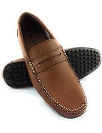 Zerimar Zapato Estilo Casual con Elástico Fabricado EN Piel Color marronTalla 40