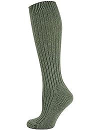 Mysocks® Calcetines de lana merino hasta la rodilla Llanura