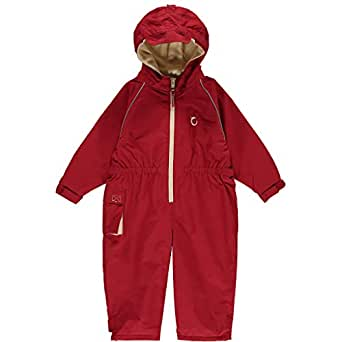 Hippychick Fleece Lined Waterproof All in One Suit - Fiesta Red 2-3 yrs