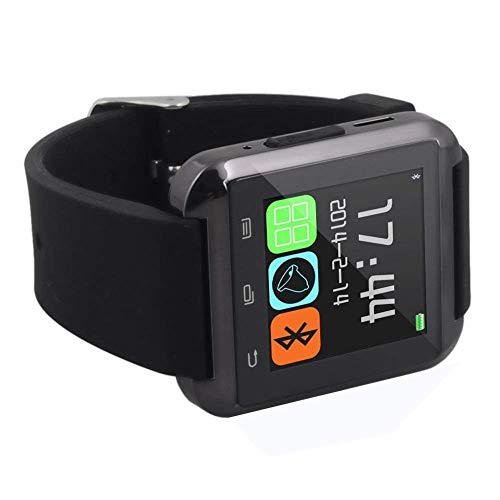 LEMFO Bluetooth Smart Watch Reloj Pulsera Inteligente U8 UWatch, Apto para Smartphones IOS Android Apple iphone 4/4S/5/5C/5S Android Samsung S2/S3/S4/Note 2/Note 3 HTC Sony Blackberry - Rojo