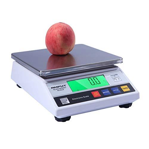 WCX 0.01g Precisión Digital Analítico Electrónico Equilibrar, Báscula Laboratorio Farmacia, Escala de Recuento Electrónico LCD Báscula de Tienda (Color : White, Size : 1kg/0.01g)