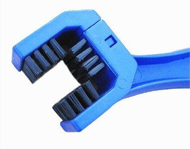 Der&Dies Fahrrad Reinigungsbürste / Fahrradreiniger / Kettenreiniger / Ketten-Reiniger für Fahrrad,Motorrad und andere Ketteninnenlager und Kettentriebbuchsen Pflege und Reinigung.(Blau) - 3