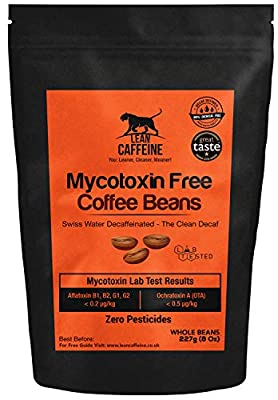 Bulletproof Coffee Decaf / Decaffeinated Coffee Beans 227g | Pesticide & Mycotoxin Free + Swiss Water Decaf | Paleo & Decadent | Good as Organic Beans Decaf by Lean Caffeine