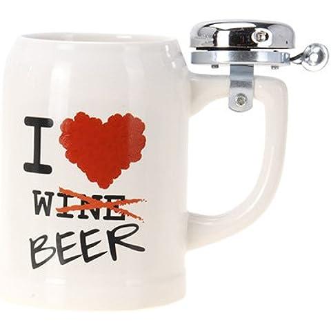 Chope de Bière avec Sonnette I Love Beer - Love Beer