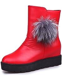 MEI&S La mujer Tacones Chunky talón corto Botines zapatos con plataforma