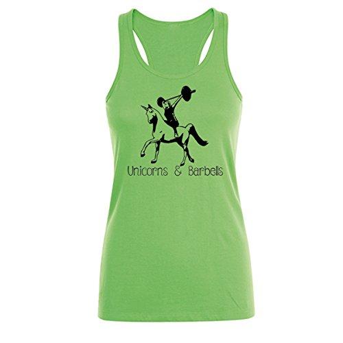 GO HEAVY mujer Tank Top - Unicorns & Barbells - verde - XS