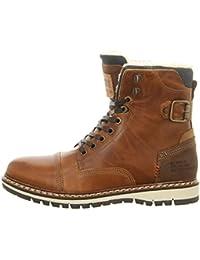 BULLBOXER 699k26303ap657 - Zapatos de cordones de Piel Lisa para hombre, color gris, talla 43 EU