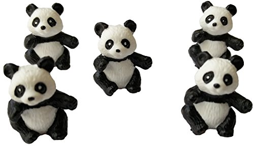 Bullyland Mini-Tiere - Glücksmini - 63270 Panda-Bären - 5 Stück im Set