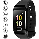 Bigowl Smart Fitness Watch Band, Smart Wristband Bracelet for Bluetooth Andriod and iOS- Black