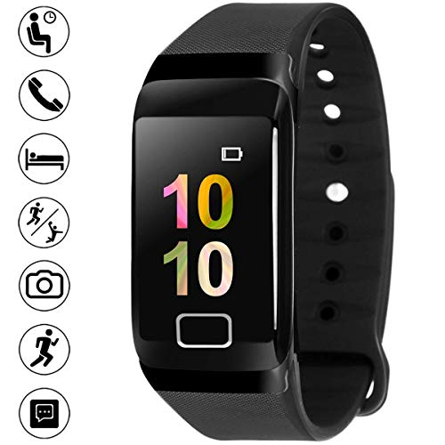 Bigowl Smart Fitness Watch, Smart Watch with Blood Pressure Heart Rate Sleep Pedometer Camera Remote Shoot Blood Oxygen Monitor Smart Wristband Bracelet for Bluetooth Andriod and iOS