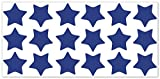 wandfabrik - Fahrradaufkleber 18 Sterne in königsblau - Wandtattoo geeignet als Dekoration Klebefolie Wandbild Wanddeko Tiere für Wohnzimmer Kinderzimmer Babyzimmer Badezimmer Fliesen Tapete Küche Flur Wohnung und Schlafzimmer für Junge Mädchen Baby Kinder Wandtattoos