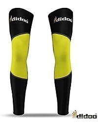 Didoo Medias interior termal calentador rodilla pierna compresión hombres nuevo ciclismo moto - 80% Polyamide