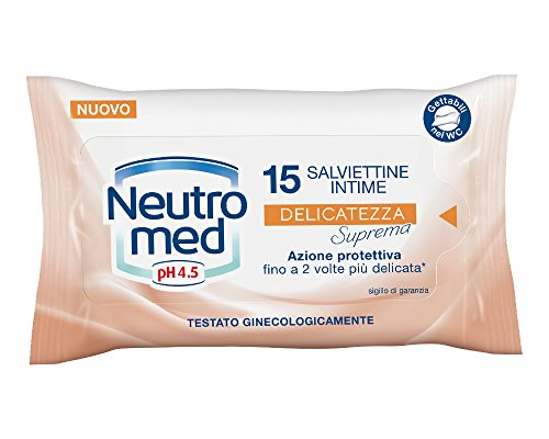 Neutromed Salviettine Intime Delicate - 3 confezioni da 15 salviettine [45 salviettine]
