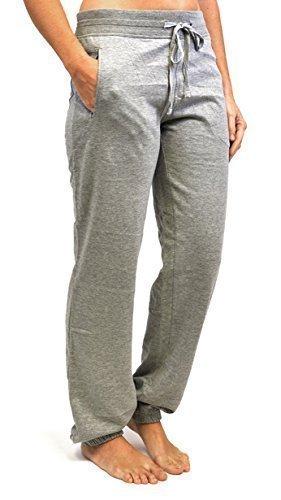 Femmes Pantalon De Jogging Gym Pantalon De Survêtement Avec Manchon Nervuré Gris