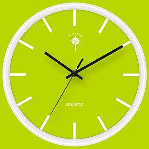 GuoEY 12-Zoll-ruhigen Lounge einen persönlichen Weg, um die Uhr Wanduhr Quarz kreative Kunst (Farbe grün)