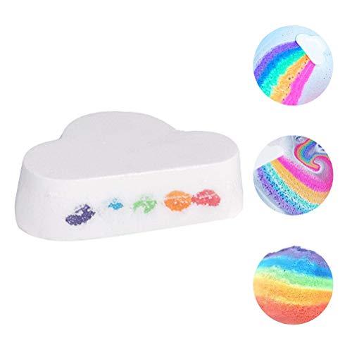 Einsgut Badebomben Rainbow Cloud Badebombe Hautpflege Natürliches Bad Erfrischendes Bad Salz Handgemachtes Geschenk Für Frauen, Mama, Mädchen Und Jungen - Handgemachte Salz