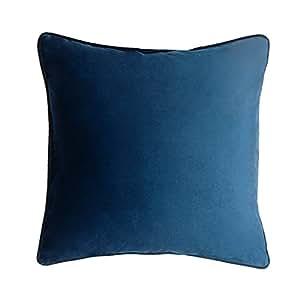 Fodera per cuscino Nuit, color blu nero. Velluto liscio, Una base perfetta 45x45 cm.