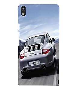 Fuson 3D Printed Car Designer Back Case Cover for Huawei Ascend P6 - D579