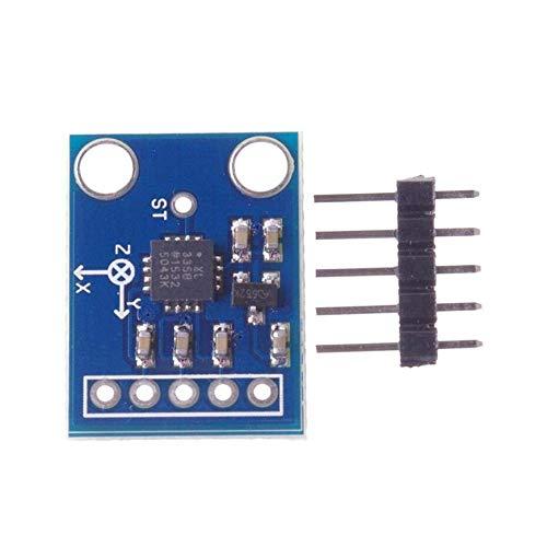 Pudincoco 3-Achsen-Analogausgang Beschleunigungssensor Winkelgeber 3-5V Triaxial Schwerkraft Tilt Board Für Arduino Sensor Module (Blau)