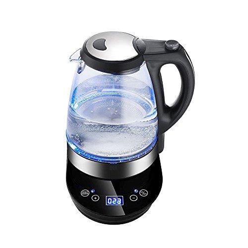 Sinbide Hausgeräte Teekocher Teekanne elektrischer Wasserkocher Reise Teekessel Teemaschine Wasserkessel automatische manuelle Temperatureinstellung-Warmhaltefunktion LED-Touchscreen 2 Liter -