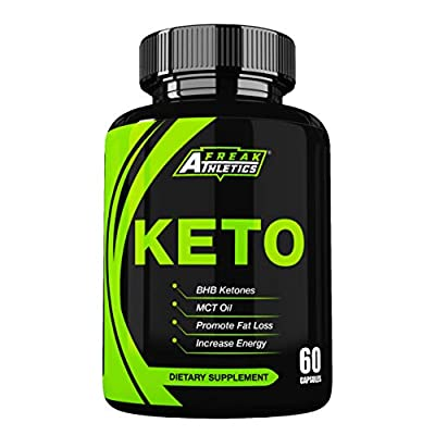 Keto - Premium Keto Diet Pills to Help Ketosis - MCT Oil & BHB to Create a Keto Fat Burner - 60 Capsules from Freak Athletics