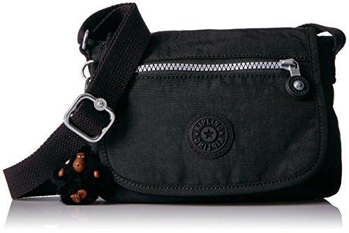 Kipling Damen Sabian Black Crossbody Mini Bag Umhängetasche, Handtasche schwarz Einheitsgröße (Bradley Geldbörse Vera Handtasche)