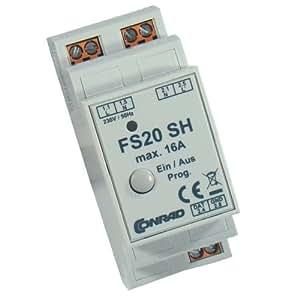 Module de commutation FS20 ESH pour montage rail DIN