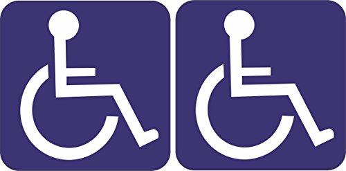INDIGOS UG Aufkleber/Autoaufkleber - JDM/Die cut - 2 Stück Rollstuhlfahrer - Behindert - 10x10cm - Tuning/Auto/Truck/KfZ/LKW