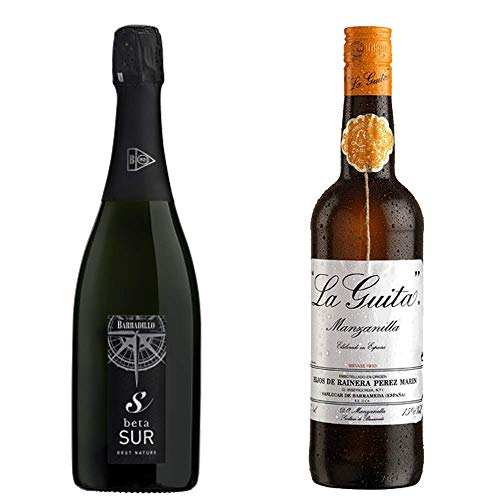 Beta Sur Y Manzanilla La Guita - Vino De La Tierra De Cádiz Y D. O. Manzanilla De Sanlúcar De Barrameda - 2 Botellas De 750 Ml