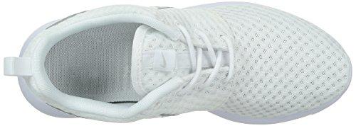 Nike Wmns Rosherun Br, Scarpe sportive, Donna WHITE/MTLC PLATINUM
