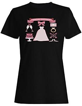 Nupcial, ducha, boda, planificación, novedad camiseta de las mujeres b189f