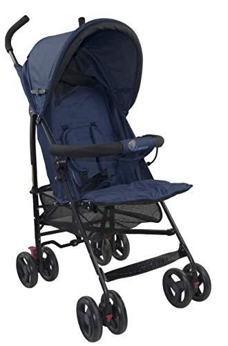 Profiseller CHICCOT Silla de Paseo - Compacto Ligero Plegable Baby Pushchair (Azul Marino)