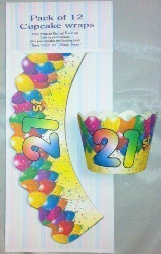 12 X 21st Geburtstag Design Cupcake Förmchen Jahre Kuchen Dekoration (21st Dekorationen Geburtstag Kuchen)