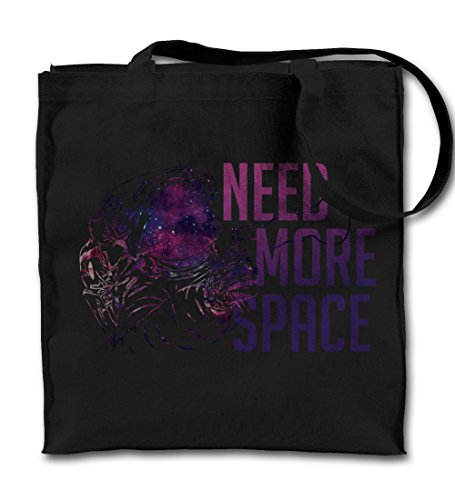 need-more-space-introvert-astronaut-cool-black-canvas-tote-bag-cloth-shopping-shoulder-bag