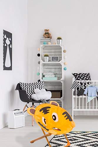 One Couture Chaise pour Enfant Tigre Motif pour Intérieur et Extérieur Kinderstühle Orange Brun Souple