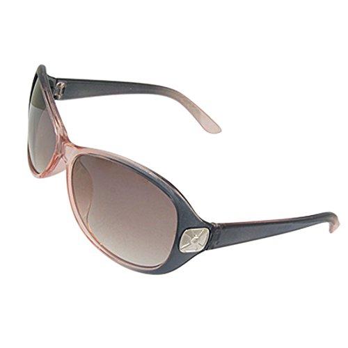 DealMux Side Alloy Platz Accent Kunststoffrahmen Fade Oval Objektiv Sonnenbrillen für die Dame