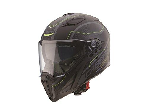 Caberg, casco Jackal, Nero Opaco/Antracite/Giallo Fluo, Taglia M