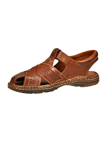 Chaussures Confortables Une Forme Orthopedique Des Sandales En Cuir Naturel De Bison Pour Homme Modele 867 Chocolat