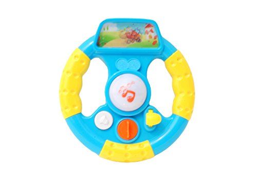 Toyhouse THPW3801 Toddler Steering Wheel with Light and Music, Multi Color