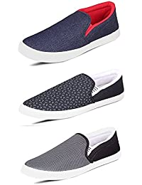 SCATCHITE Men's Canvas Casual Shoes -Pack of 3