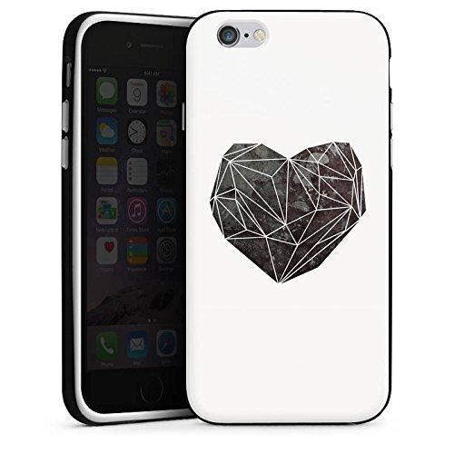 Apple iPhone X Silikon Hülle Case Schutzhülle Liebe Herz Love Silikon Case schwarz / weiß