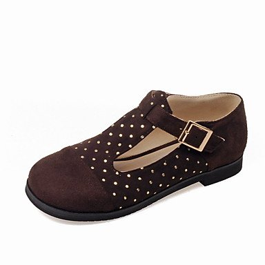 Confortevole ed elegante piatto scarpe donna Appartamenti Primavera Estate Autunno Comfort Mary Jane vello Office & carriera atletica Casual tacco piatto Sequin fibbia Split JointBlack Brown Black