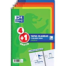 Oxford – Pack of 5 Notepads, 90 g, 80 Sheets (400027271)
