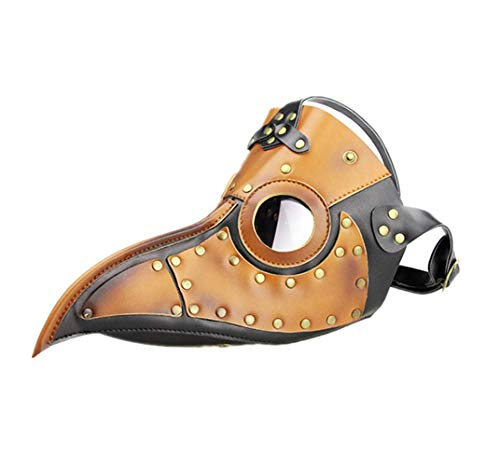 Halloween-Maske, Cosplay Geschenke Kunstleder Gothic Mask Plague Raven Steampunk, Horror Geist Scary, Prank-Schablonen-Gesichts Scary Party, Bar Props -