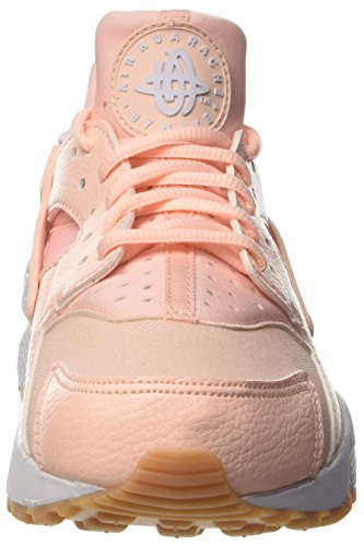 Nike Wmns Air Huarache Run, les Formateurs Femme Rose (Sunset Tint/white/gum Yellow)