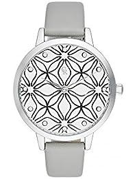 Reloj mujer Charlotte rafaelli de cuarzo reloj Imprimé 36 mm y pulsera gris en PU crg011
