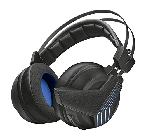 Trust Gaming GXT 393 Magna Cuffie Gaming Wireless Over-Ear con Unità Altoparlanti e Suono Surround 7.1, Nero