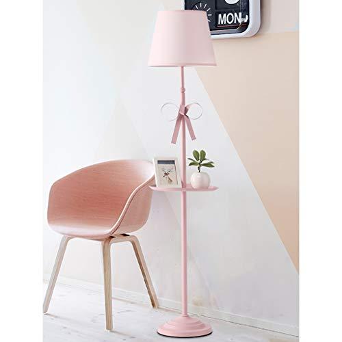 Home lighting Princesse Vent Lampadaire Fille Style Nordique IKEA Creative Vertical Lampe Chambre Chambre des Enfants Salon Rose Haute Lampe De Table 160 * 27CM (Couleur : Remote 9W)