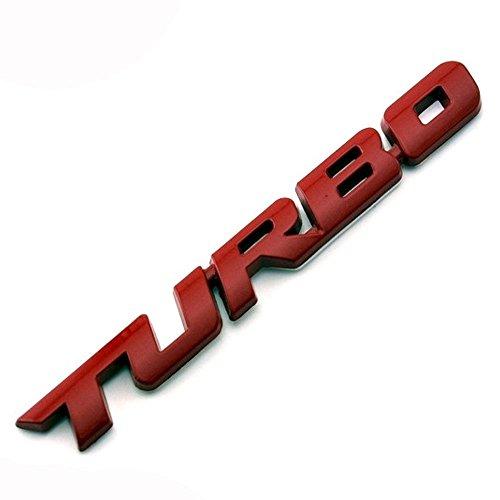 Placchetta metallo 3D emblema adesivo TURBO auto car Styling Tuning badge (Emblema Del Metallo)